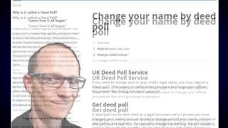 How did deed poll start ? What is the history behind deed poll ? learn how deed poll first started at http://www.deedpoll.ltd.uk and https://www.facebook.com/pages/Change-your-name-by-deed-poll/1617252885211036