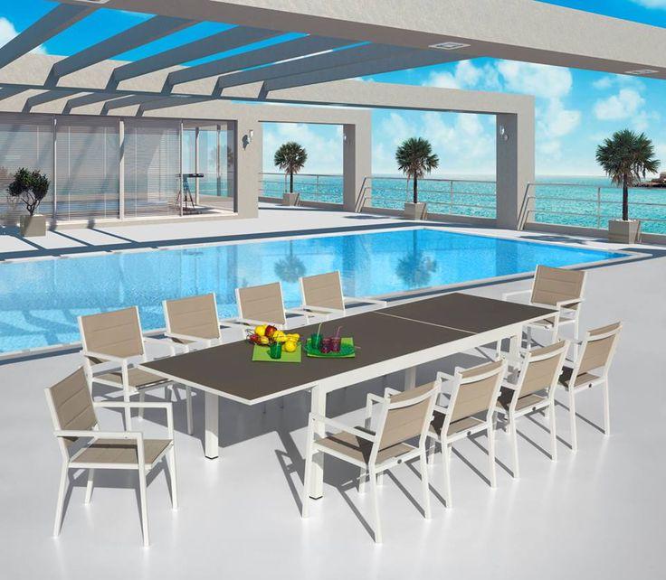 Tavolo e sedie giardino Royalto - La Chic http://www.opend.it/shop/set-completi/set-royalto_la-chic/