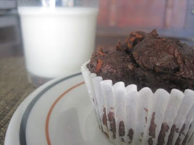 Chocolate black bean muffins with carrots, oatmeal flour, coconut oil and flax. Super healthy and super delicious! Perfect for my toddler- it's almost like a meal in a muffin!