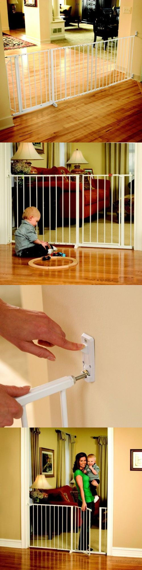 Safety Gates 117029: Baby Gate Extra Wide Hardware Mounted Top Of Stairs Pet Security Safety Sturdy -> BUY IT NOW ONLY: $67.9 on eBay!