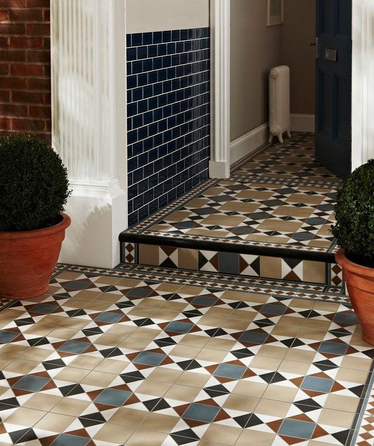 Grosvenor Beige Blue Tile Topps Tiles Porch Wall