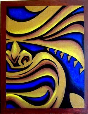 Polynesian Lava - Hawaiian art - wooden sculpture - polynesian art FROM TIKI MASKS