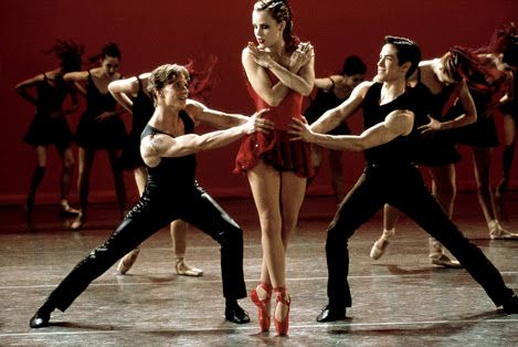 Center Stage - 15 years since Amanda Schull spun into this little red number.   Ethan Stiefel. Amanda Schull. Sascha Radetsky.   #ballet #dancemovie