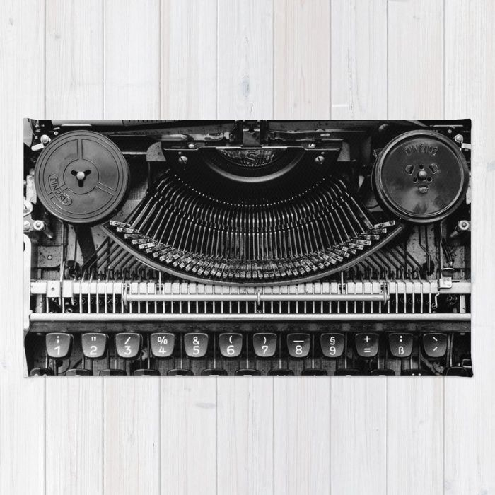 Typewriter Rug by Mixed Imagery | Society6