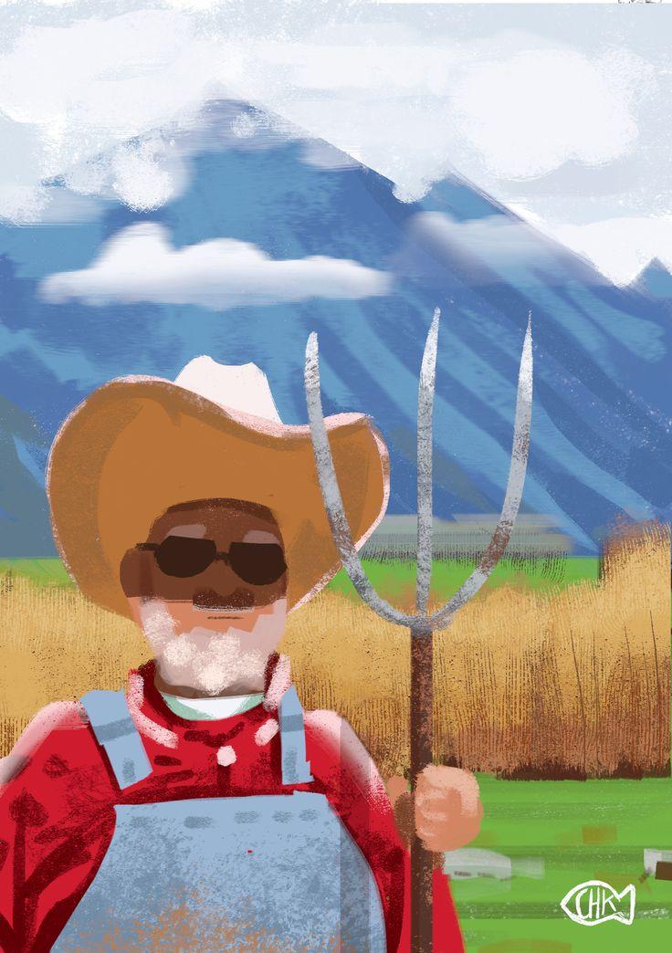 farmer bob daily spitpaint, digital drawing