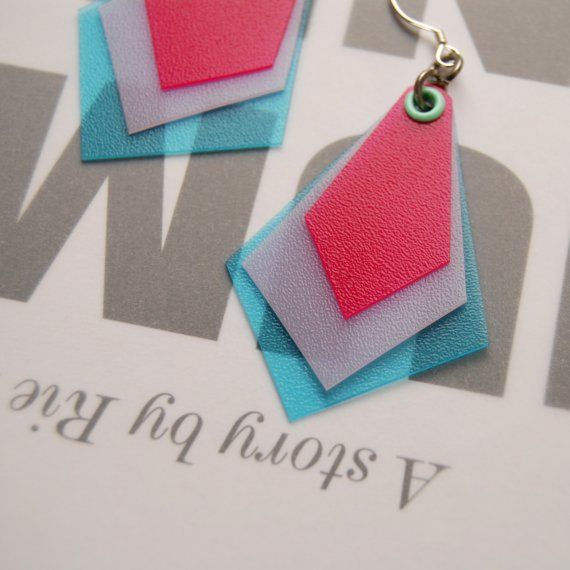 Shrinky dink earrings