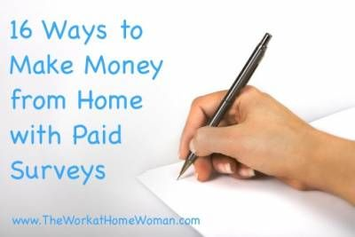 make money from home surveys 16 ways to make money from home with paid surveys how to 8204