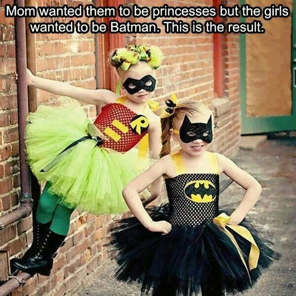 Mom wanted them to be princess, they wanted to be Batman.  So cute!!!