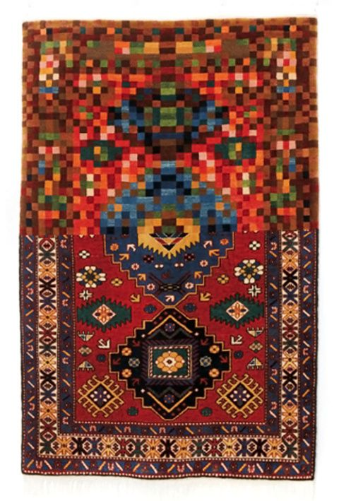 Azerbaijan-based artist Faig Ahmed reimagines the traditional art of carpet  in a contemporary context, by creating hand-woven carpets that appear  stretched, ...