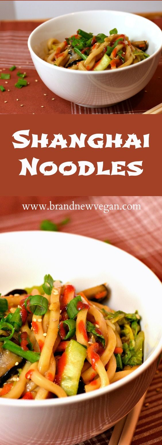 Don't get shanghaiied in Portland without at least trying my Shanghai Noodles! Chewy Udon Noodles, Shiitakes, and baby Bok Choy in a sweet & savory sauce.