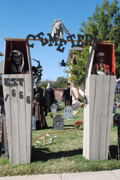 coffin cemetery entrance