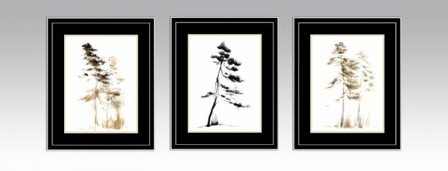 Option 3. Black&Silver frame and black double passe-partout
