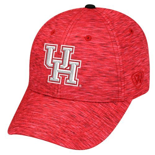 The Top of the World Men's University of Houston Warpspeed Cap is made of a heathered polyester/cotton blend and features a team logo at the front.