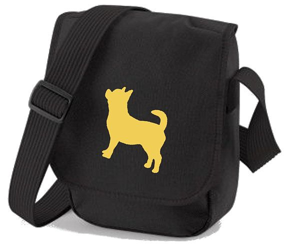 HAND BAG *Choice of 2 colours* GREAT GIFT CHIHUAHUA DOG PERSONALISED SHOULDER