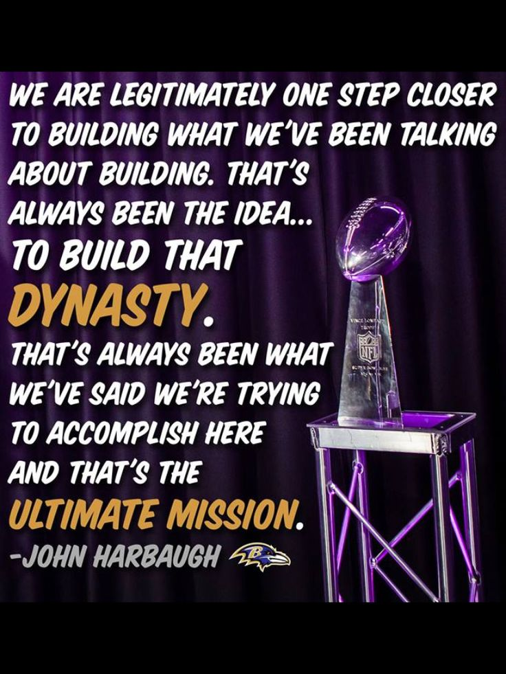John Harbaugh on the Baltimore Ravens