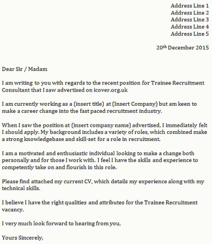Application Letter Template Sample - General - FREE Download