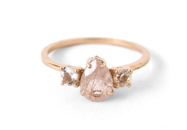 A sweet topaz and pear-cut quartz ring for the person who clearly doesn't think diamonds are all that.