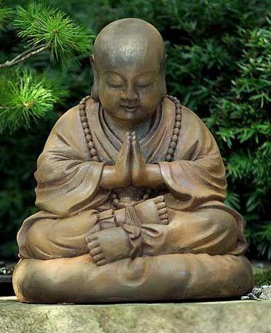 Dharma Crafts   Gassho Garden Monk Statue