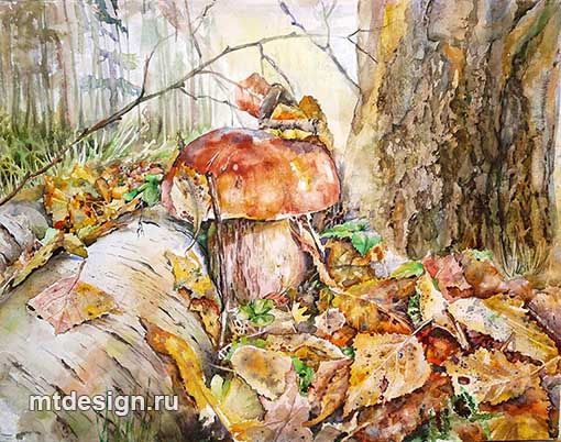 Осенний лес. _ акварель _ Марина Терешкова