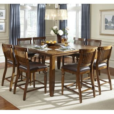 American Heritage Delphina Kitchen Table. 9 Piece Counter Height Dining Set.  Love this set.