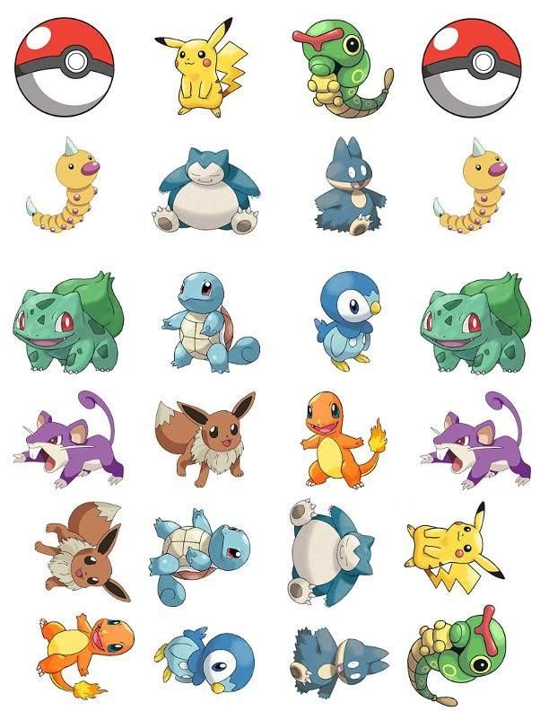 Pokemon Characters 24 Cupcake Toppers
