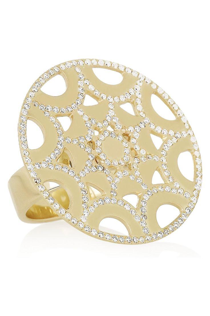 Ileana Makri|Star 18-karat gold diamond ring|NET-A-PORTER.COM