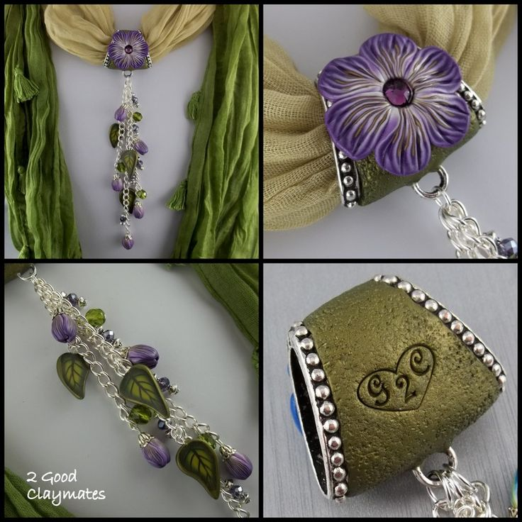 polymer clay scarf charms | ... is our scarf jewelry where you can turn your scarf into a necklace