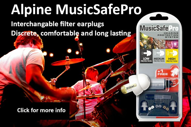 Alpine MusicSafe Pro- earplugs that protect your hearing without muffling the music