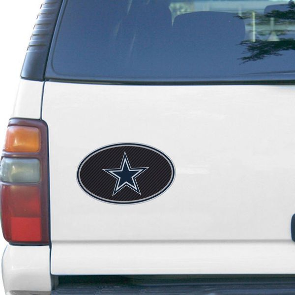 "Dallas Cowboys Carbon 6"" x 6"" Oval Full Color Magnet"