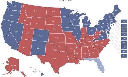 Electoral Map 2012 - Congratulations, President Obama