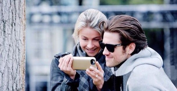 Aaron Tveit and Julianne Hough