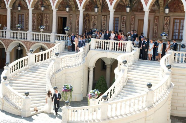 31 AUGUST 2013  Official Wedding Photos of Andrea Casiraghi and Tatiana Santo Domingo Civil wedding ceremony of Andrea Casiraghi and Tatiana Santo Domingo  at the  Royal Palace in Monaco.