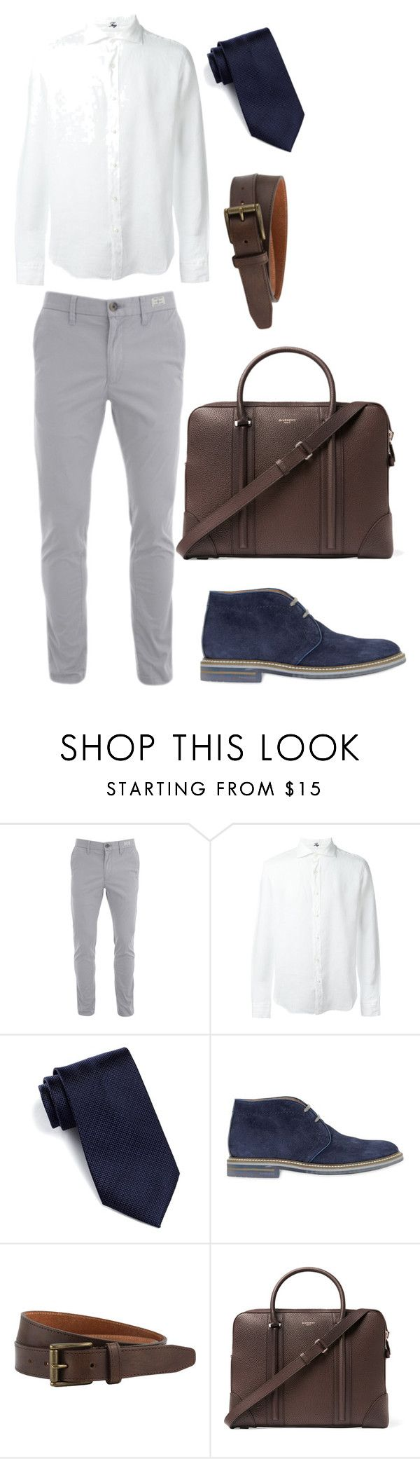 """Look 3- WILSONS"" by kirravanblanken on Polyvore featuring FAY, Nordstrom Rack, Brimarts, The British Belt Company, Givenchy, men's fashion and menswear"