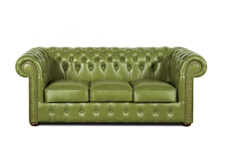 Zielona skórzana sofa Chesterfield, skórzana sofa chesterfield, green chesterfield, skóra naturalna, stylowa sofa, semianilina, madras, dubai, sofa w stylu angielskim, pikowana   sofa chesterfield original3.jpg (857×600)