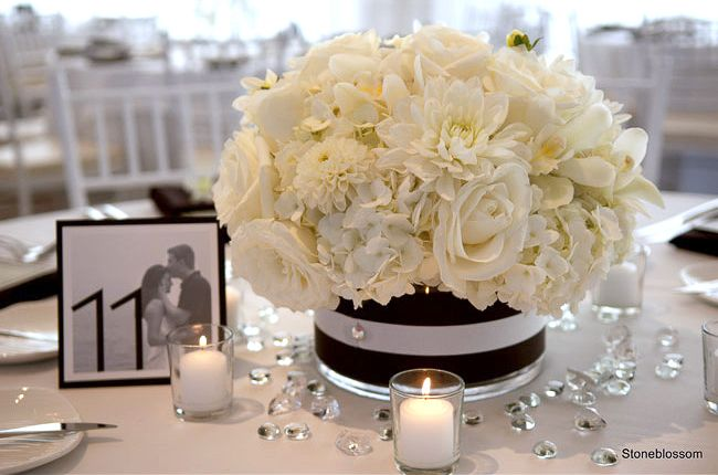 Best black and white centerpieces ideas on pinterest