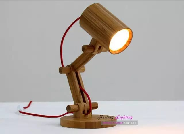 Diy Creative Table Lamp Design Original Wood Table Lamps Modern Wooden Robot Table Light Kids Room Gift 1pcs E27 40w 110v 220v Table Lamp Wood Table Lamp Lamp