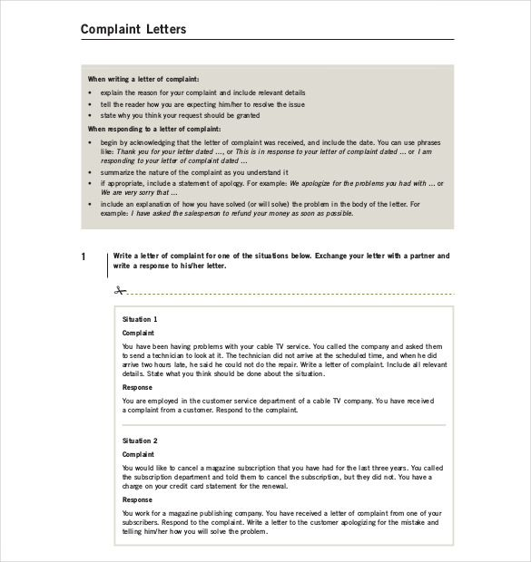 letter complaint template free word pdf documents download formal