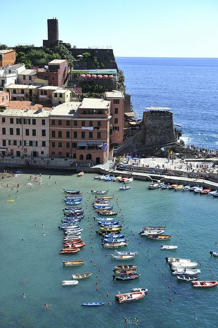 UNESCO World Heritage Site - Cinque Terre, Portovenere, and the Islands (Palmaria, Tino and Tinetto), Italy (terraced landscapes and ports of the Ligurian coastline from the 12th century)