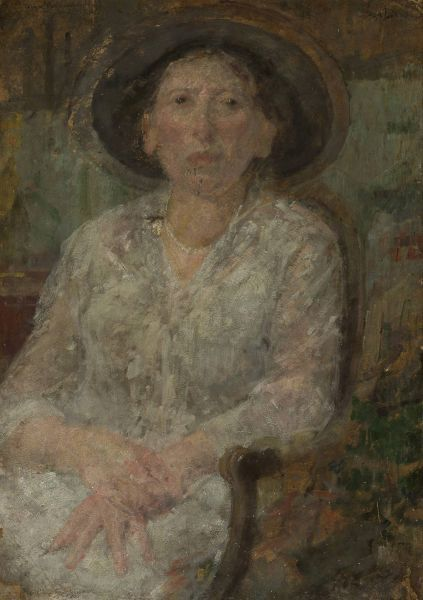 Portret panny Ellen - Olga Boznańska