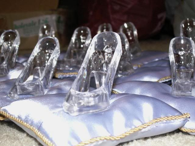 cinderella slipper fillable favor set of 12 disney wedding shoesdisney