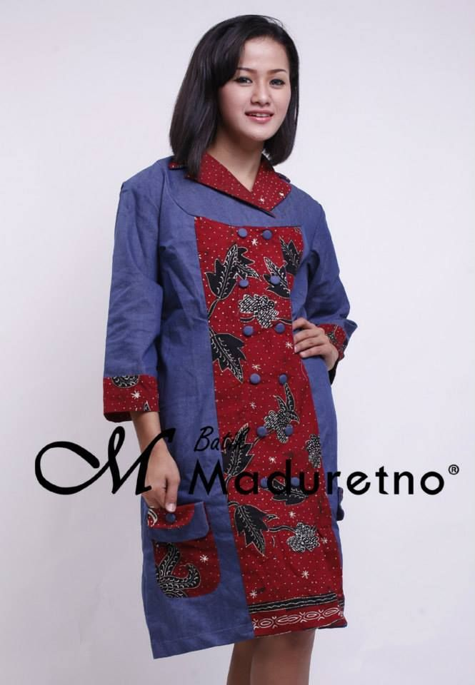 Sort Dress Batik Pesta Elegan
