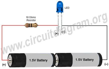 simple basic led circuit circuit diagram electronics pinterest circuit diagram. Black Bedroom Furniture Sets. Home Design Ideas