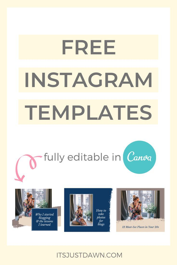 Free Instagram Templates Just Dawn Instagram Template Free Instagram Blog