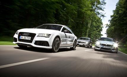 2014 Audi RS7 vs. 2014 BMW M6 Gran Coupe, 2014 Mercedes-Benz CLS63 AMG S-model