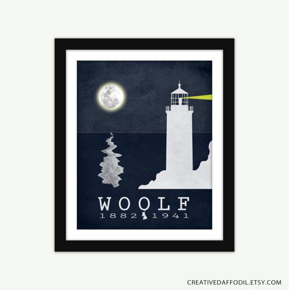 Virginia Woolf To the Lighthouse Literature by CreativeDaffodil, $16.00