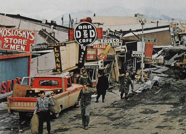 1964 alaska earthquake photos | 1964 ALASKA vintage neon signs Chevrolet Truck EARTHQUAKE PHOTO ...