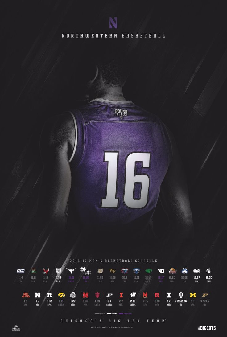 2016-17 NCAA Men's Basketball Schedule Poster Gallery | Poster Swag