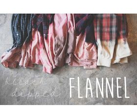 Life's a Peach: DIY: Bleach Dipped Flannel
