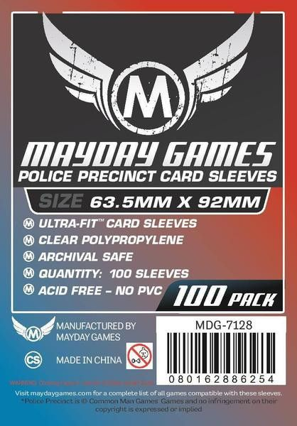 """Mayday Card Sleeves """"Police Precinct"""" 63.5 X 92mm (set of 100) [clearance]"""