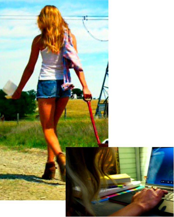 Nicola Peltz (as Tessa) in Transformers 4 movie: boots, hexagon bolt ring